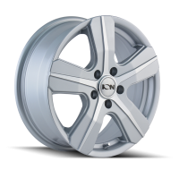 ION ION TYPE 101 SILVER/MACHINED FACE 16X7 5-160 55MM 65.1MM 101-6741S