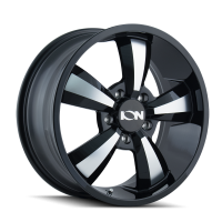 ION ION TYPE 102 GLOSS BLACK/MACHINED FACE 18X8 5-130 50MM 84.1MM 102-8830B