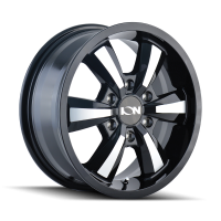 ION ION TYPE 103 GLOSS BLACK/MACHINED FACE 16X6.5 6-130 45MM 84.1MM 103-6630B