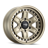 Dirty Life DIRTY LIFE CAGE 9308 MATTE GOLD 17X8.5 6-135 -6MM 87.1MM 9308-7836MGD