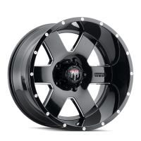 AMERICAN TRUXX AMERICAN TRUXX ARMOR AT155 BLACK/MILLED 20X9 6-135 0MM 87.1MM AT155-2936M0