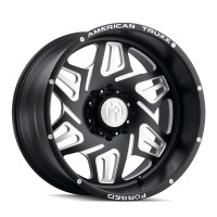 AMERICAN TRUXX FORGED ATF1908-221297M ORION AMERICAN TRUXX FORGED ORION ATF1908 MATTE BLACK/MILLED 22X12 8-180 -44MM 124.2MM ATF1908-22278-44M