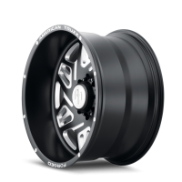 AMERICAN TRUXX FORGED ATF1908-221283M ORION AMERICAN TRUXX FORGED ORION ATF1908 MATTE BLACK/MILLED 22X12 6-139.7-44MM 106.1MM ATF1908-22283-44M